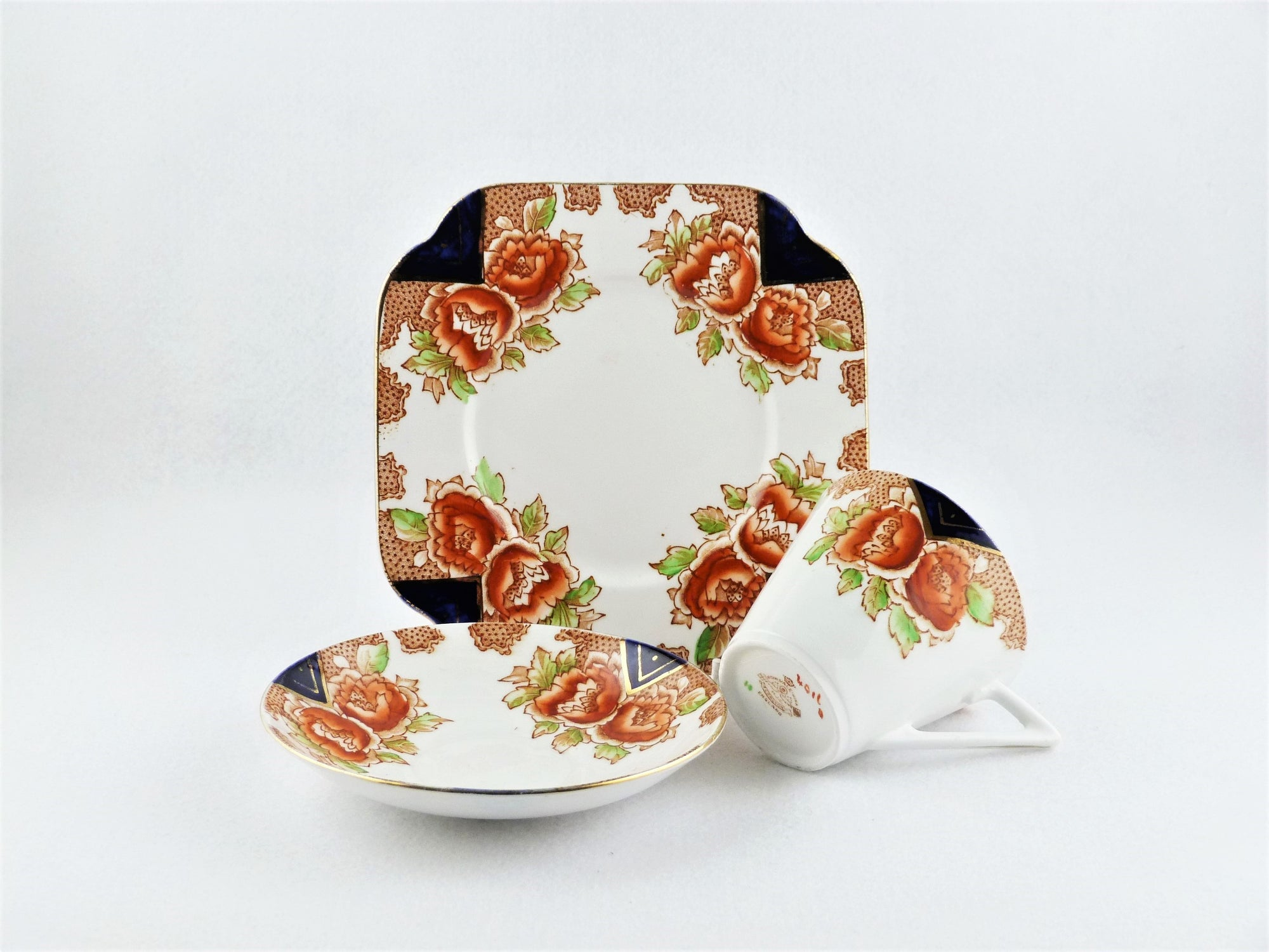 Royal Vale Cup, Saucer and Plate, English China, 1928 -1937
