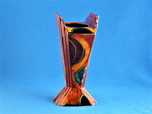 Anita Harris Art Pottery, Fan Vase, Art Deco Style Vase, Home Decor Item