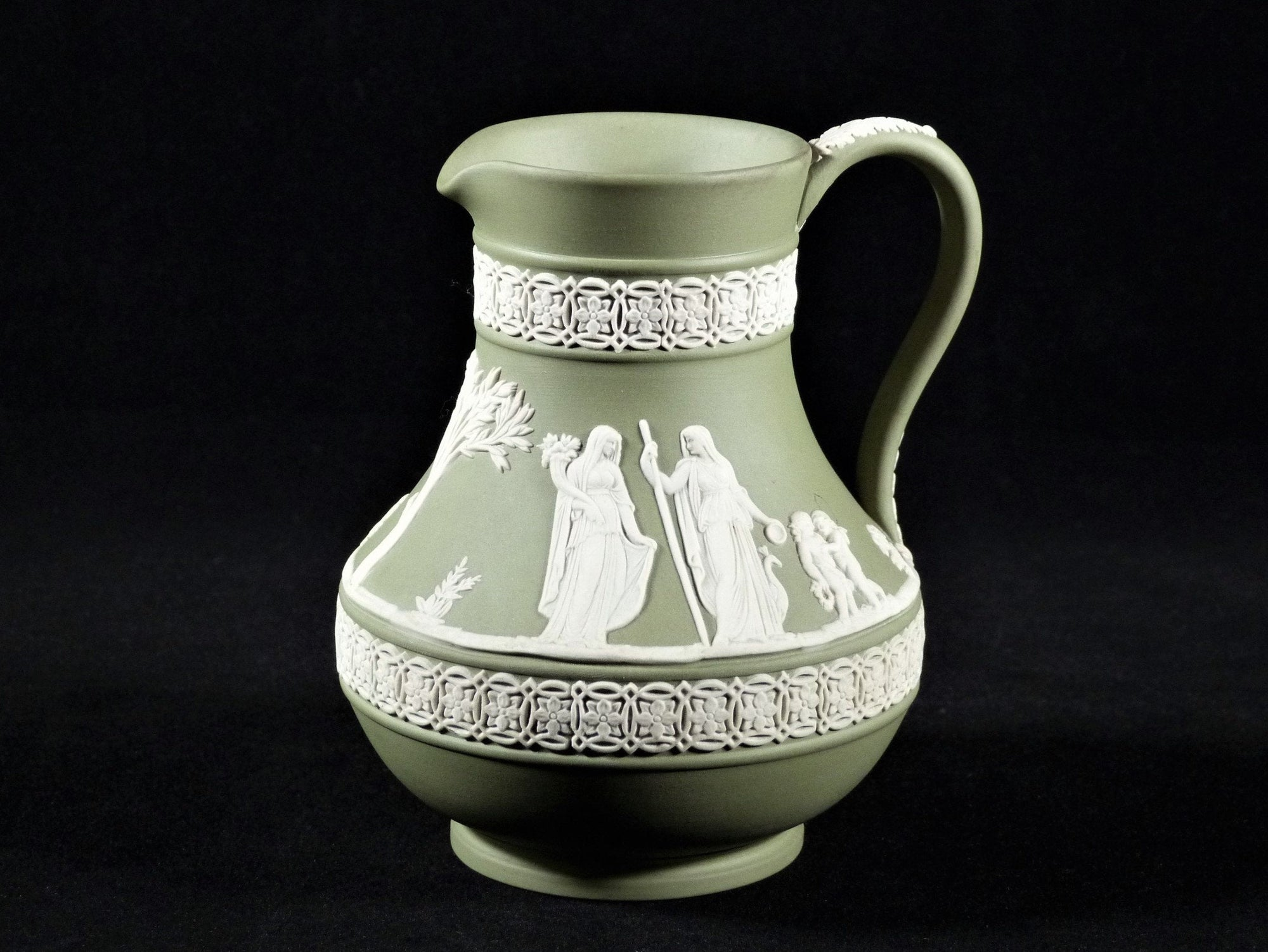 Wedgwood Jasperware Green Small Jug