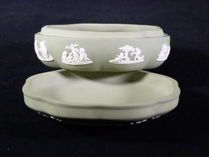 Wedgwood Jasperware Green Trinket Box