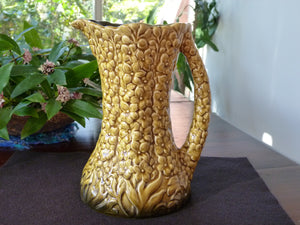 Vintage Sylvac, Embossed Flower Jug, No 1962, Decorative Pitcher