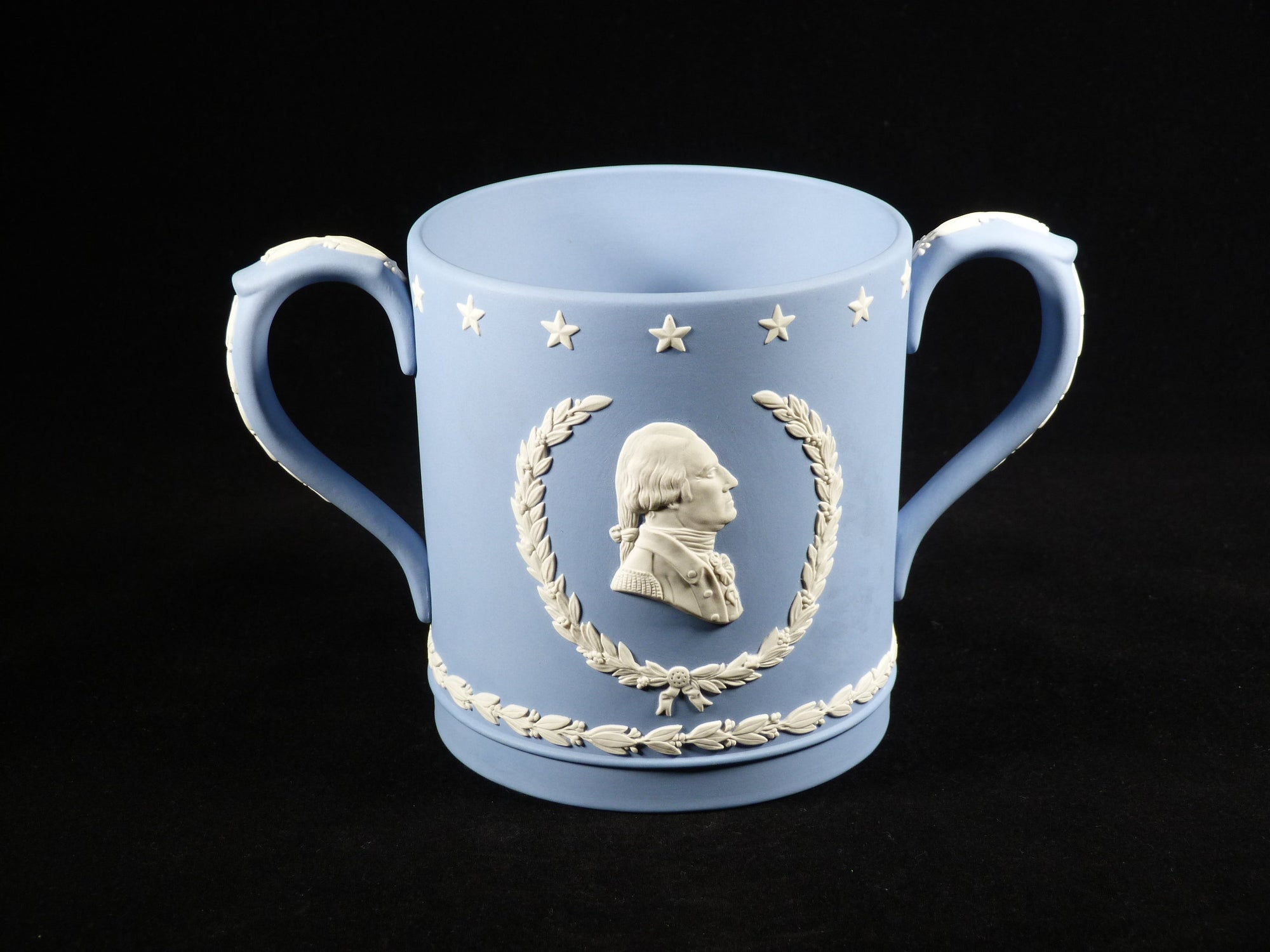Wedgwood Jasperware Loving Cup, Collectors Society, George Washington
