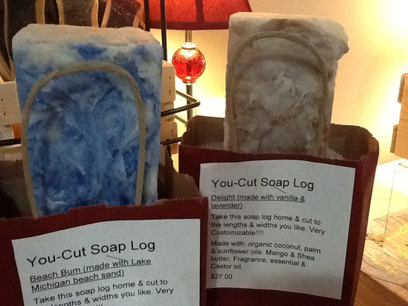 You Cut Soap Log  - Delight (vanilla & lavender)