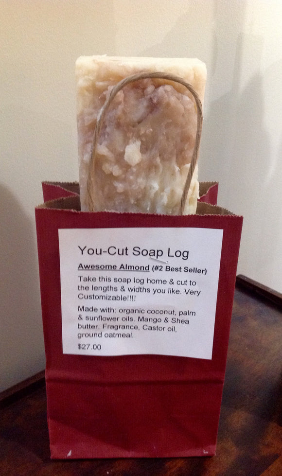 You Cut Soap Log  - Awesome Almond
