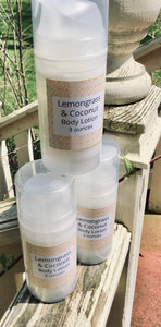 Lemongrass & Coconut Body Lotion 3 oz
