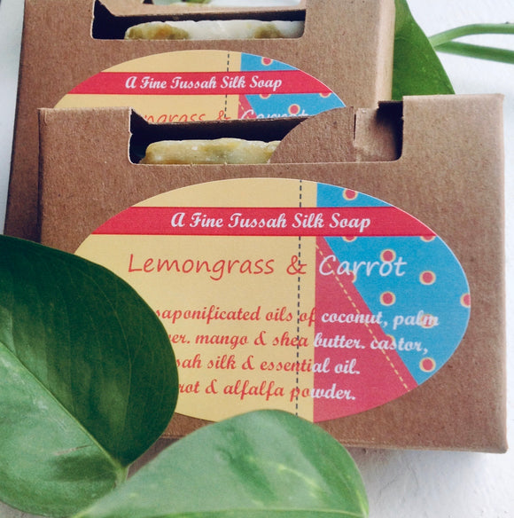 Lemongrass & Carrot handcrafted herbal soap