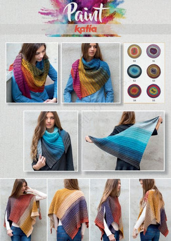 Katia Paint - Women's Scarf and Poncho