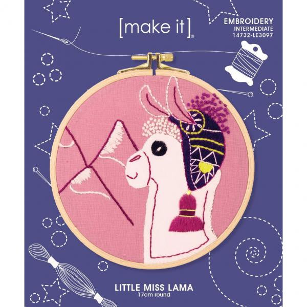 Little Miss Lama Embroidery Kit