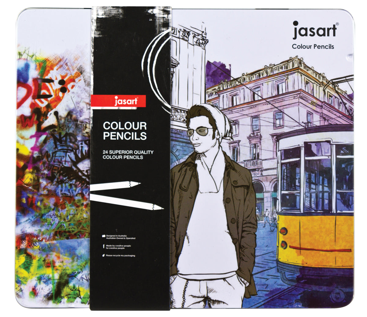 Jasart: Colour Pencil Sets - Tin