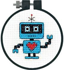 Counted Cross Stitch - Robot