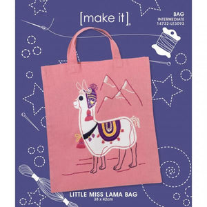 Miss Lama Bag Embroidery Kit