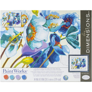 Paint by Numbers - Blue Poppies