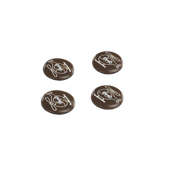 2 Hole Helicopter Button -18mm