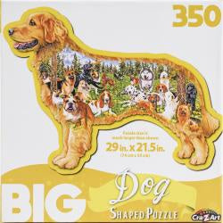 Big Shaped Jigsaw Puzzle - Dog Park - 350 Piece