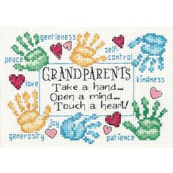Counted Cross Stitch - Grandparents Touch A Heart