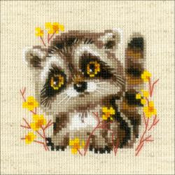 Counted Cross Stitch - Little Racoon