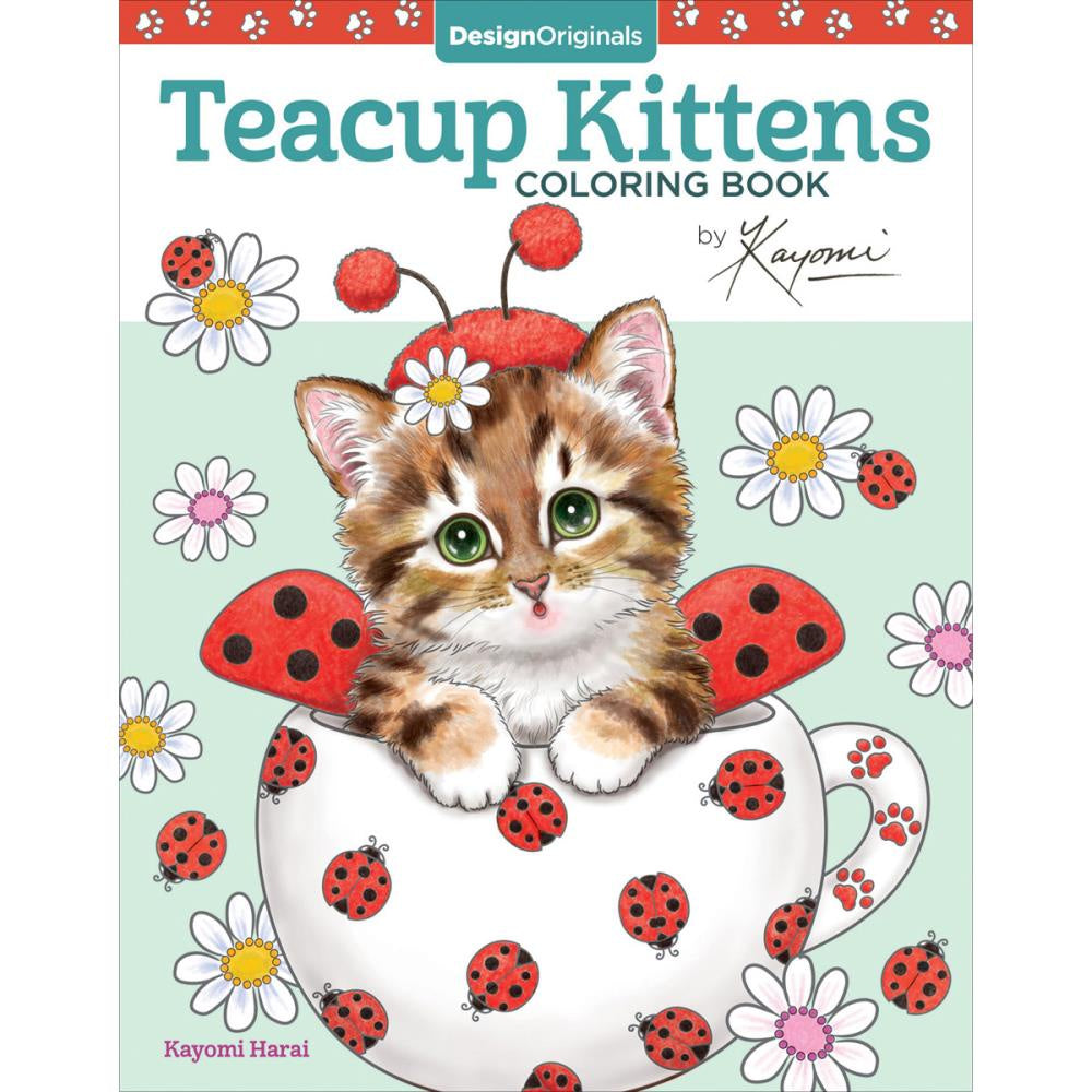 Teacup Kittens - Creative Colouring Book