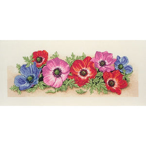 Anchor Essential Kits: Cross Stitch – Spray of Anemones