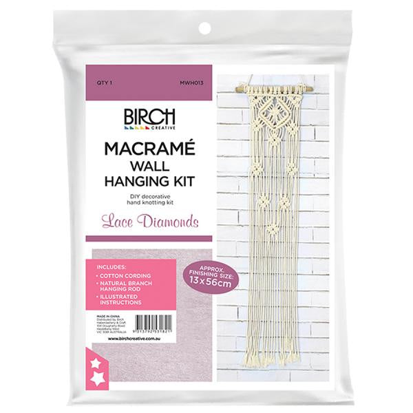 Macrame Wall Hanging Kit - Lace Diamonds