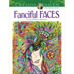 Fanciful Faces - Colouring Book