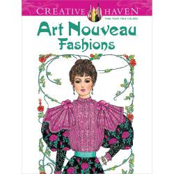Art Nouveau Fashions - Colouring Book