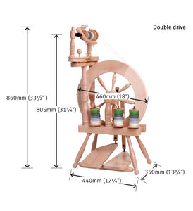 Traveller Spinning Wheel Double Treadle Double Drive
