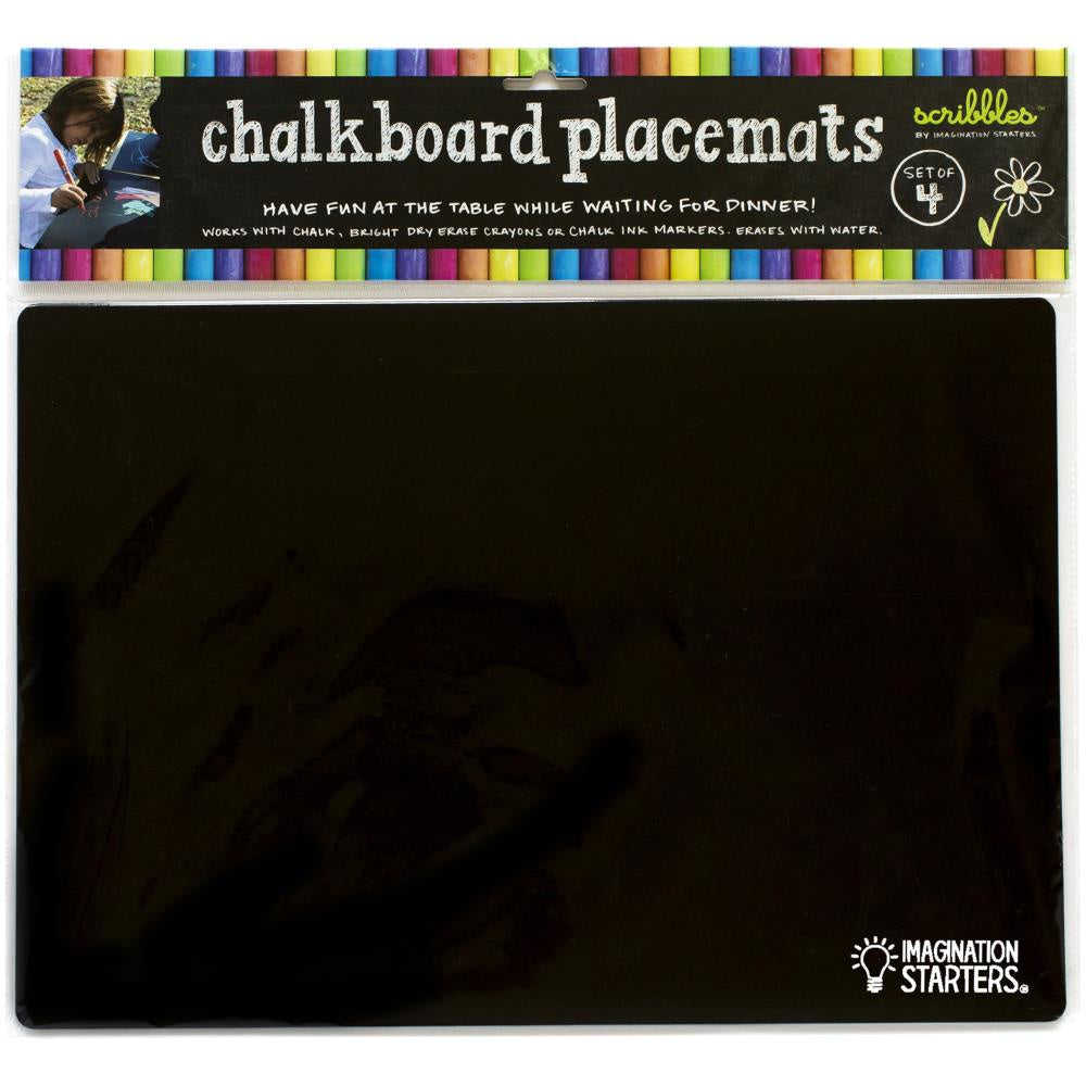 Reversible Chalkboard Placemats - 4 Pack