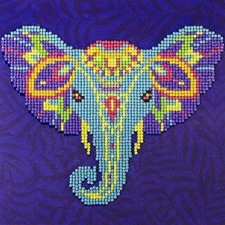 Diamond Art - Colourful Elephant