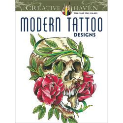 Modern Tattoo Designs - Colouring  Book