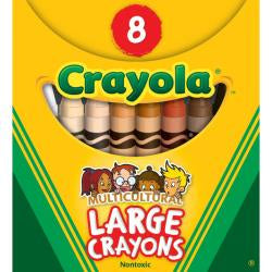 Crayola - Large Crayons - Multicultural Colours