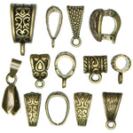 Load image into Gallery viewer, Jewelry Basics Metal Findings - Mixed Bail Pack - 13 Pieces
