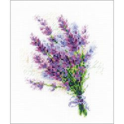 Counted Cross Stitch - Bouquet with Lavendar