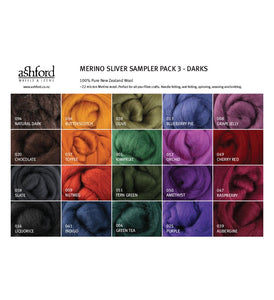 Fibre Sampler Pack - Merino Darks