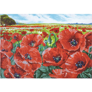 Diamond Dotz - Red Poppy Field