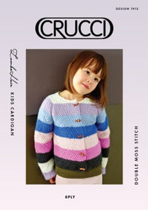 Knitting Pattern - Crucci Lambshair Kids Cardigan 1912