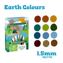 Earth Colour Paint Pens - Fine Tip (1.5mm)