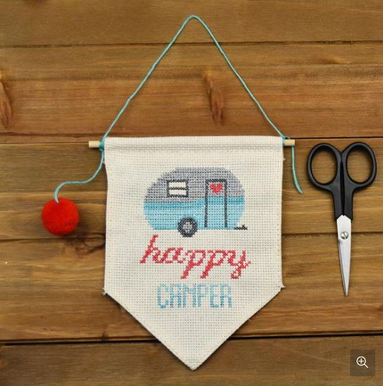 Happy Camper Wall Flag