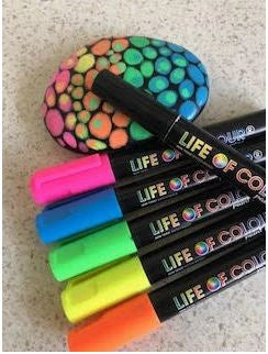 Fluro Colours Paint Pens - 3mm Medium Tip