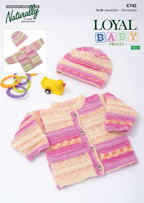 Knitting Pattern - Loyal Baby Prints 4 Ply