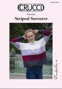 Knitting Pattern - Crucci Lambshair O'sized Striped Sweater 2026