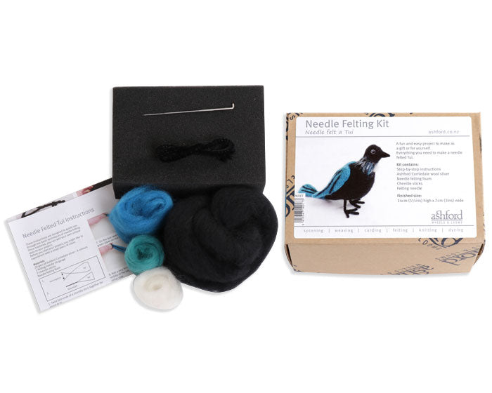 NZ Wildlife Needle Felting Kit - Tui