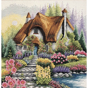 Anchor Essential Kits: Cross Stitch – Lakeside Cottage