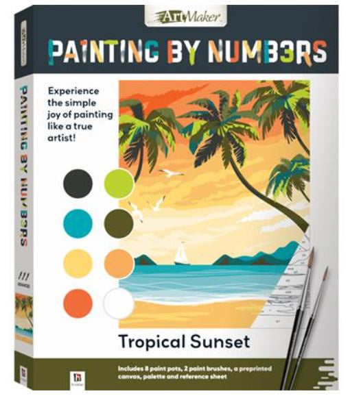 Art Maker Paint by Numbers: Tropical Sunset
