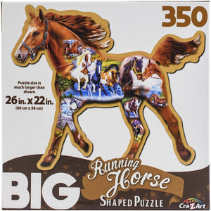 Big Shaped Jigsaw Puzzle - Running Horse - 350 Piece