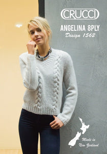 1562 - Angelina 8 Ply - Cabled Sweater