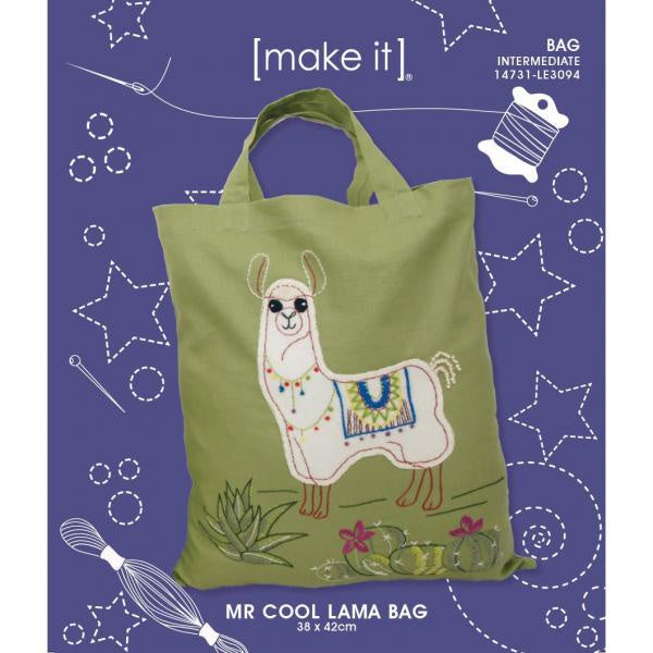 Mr Cool Lama Bag - Embroidery Kit