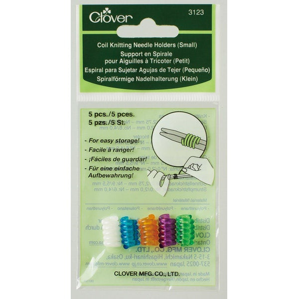Coil Knitting Needle Holder - 5 Pack