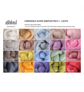 Fibre Sampler Pack - Corriedale Lights
