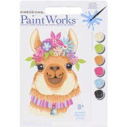 Paint by Numbers - Flowery Llama