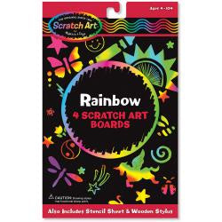 "Scratch Art Board Set 6""X10"" 4/Pkg  - Rainbow"